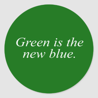 Green is the new blue stickers