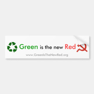 Green is the new Red Bumper Sticker