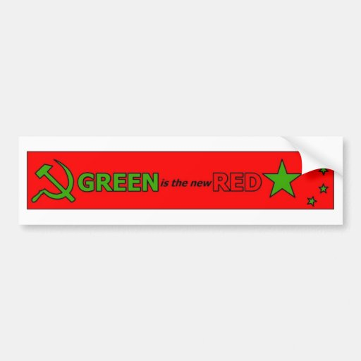 Green is the new Red bumper sticker 2