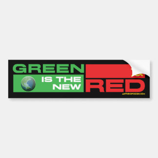 Green is the New Red Car Bumper Sticker
