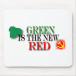 GREEN IS THE NEW RED MOUSE PADS