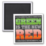 Green Is The New Red Refrigerator Magnets