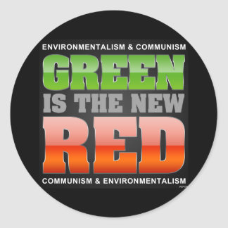 Green Is The New Red Round Sticker
