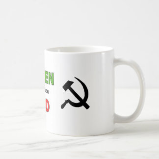 Green is the new Red with black symbols Coffee Mug