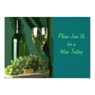 """Green is White 5"""" X 7"""" Invitation Card"""