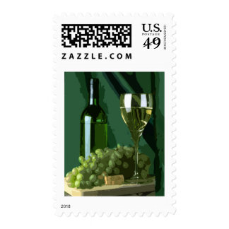 Green is White Postage Stamp