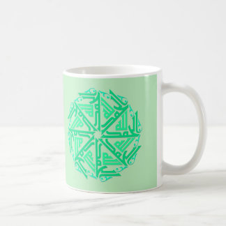 Green Islamic Decoration Mug