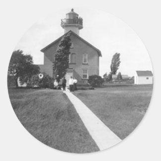 Green Island Lighthouse Round Stickers