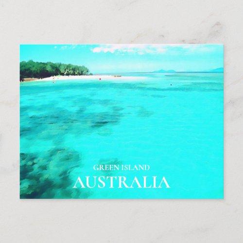 Green Island Queensland Australian travel Postcard