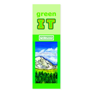 green IT and Go GREEN jGibney The MUSEUM Zazzle Double-Sided Mini Business Cards (Pack Of 20)