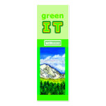 green IT and Go GREEN The MUSEUM Zazzle jGibney Business Cards