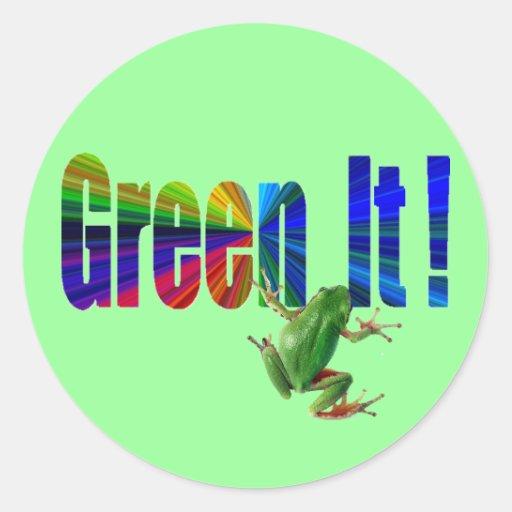 Green It Classic Round Sticker