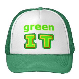 green IT The MUSEUM gibsphotoart Trucker Hat