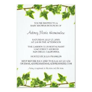 Green Ivy - 3x5 Baby Shower Invitation