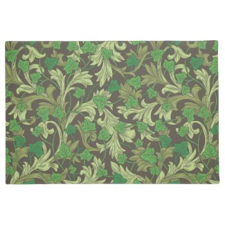 Green Ivy and Acanthus Leaves Garden Mat