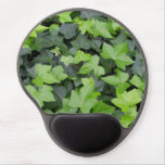 Green Ivy Botanical Print Gel Mouse Pad
