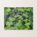 Green Ivy Botanical Print Jigsaw Puzzle