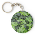 Green Ivy Botanical Print Keychain