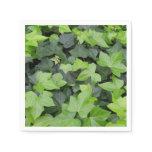 Green Ivy Botanical Print Paper Napkin