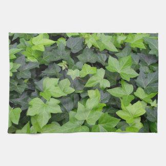 Green Ivy Botanical Print Towel