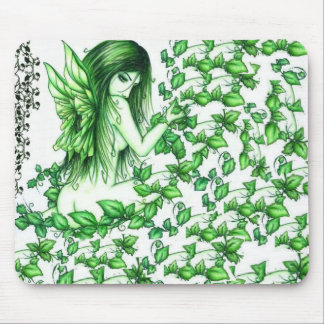 Green ivy fairy mouse pad! mouse pad