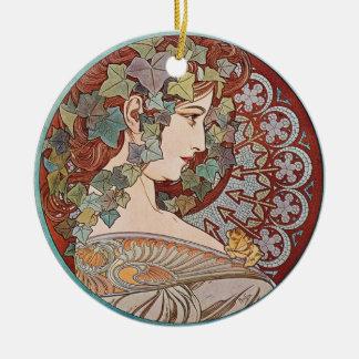 Green Ivy Goddess Art Ornament