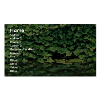 Green Ivy species in water Double-Sided Standard Business Cards (Pack Of 100)