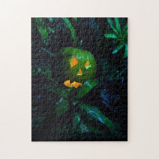 Green Jack O Lantern Jigsaw Puzzle