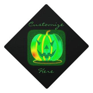 Green Jack o'lantern Halloween Thunder_Cove Graduation Cap Topper