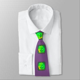 Green Jack o'lantern Halloween Thunder_Cove Tie