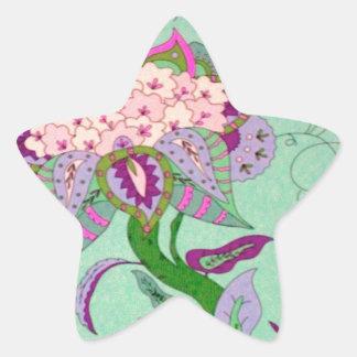 green jacobian star sticker