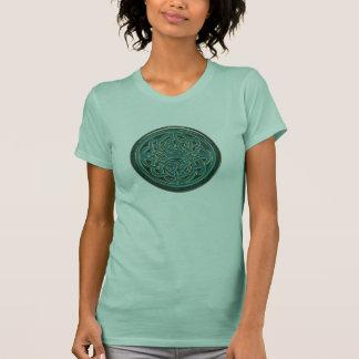 Green Jade and Gold Metallic Celtic Knot Tshirt