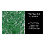 green jade chinese dragon sculpture Double-Sided standard business cards (Pack of 100)