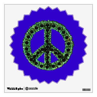 Green Jagged Peace Starburst Wall Decal