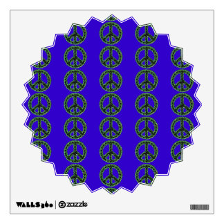 Green Jagged Peace Tiled Starburst Wall Decal