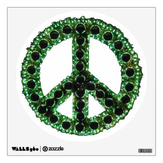 Green Jagged Peace Wall Decal