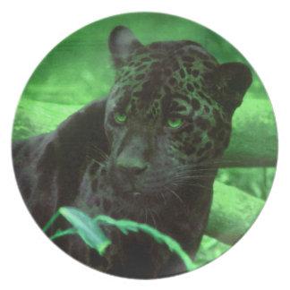 Green Jaguar Panther Dinner Plate