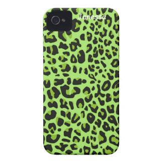 Green Jaguar Print iPhone Case iPhone 4 Covers