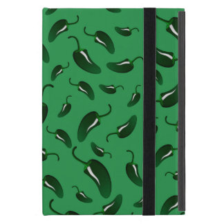 Green jalapeno peppers pattern cover for iPad mini