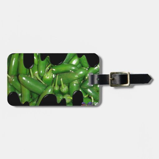 GREEN JALAPENOS PRODUCTS TRAVEL BAG TAGS