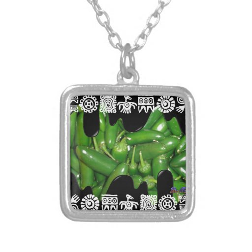 GREEN JALAPENOS PRODUCTS CUSTOM NECKLACE