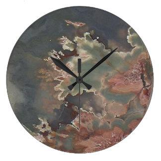 Green Jasper Stone Look  Wall Clock