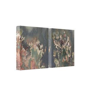 Green Jasper Wrapped Canvas Print