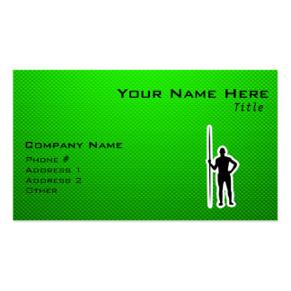 Green Javelin Throw Double-Sided Standard Business Cards (Pack Of 100)