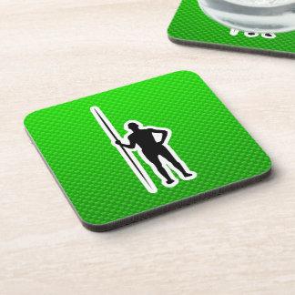 Green Javelin Throw Coasters