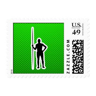 Green Javelin Throw Postage