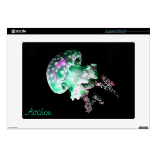 Green Jellyfish Laptop Skin