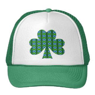 Green Jewel Shamrock Trucker Hat