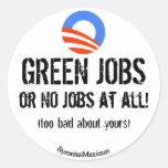 GREEN JOBS! STICKERS