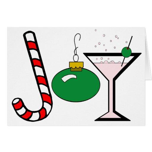Green Joy Of Christmas Card